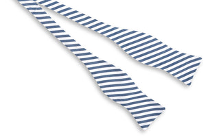 Oyster Roast Stripe Bow Tie - Midnight