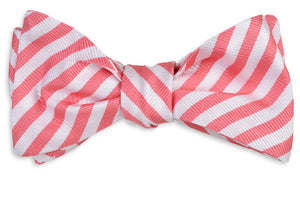 Oyster Roast Stripe Bow Tie - Tabasco