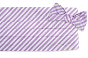 Oyster Roast Stripe Cummerbund Set - Haze