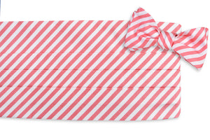 Oyster Roast Stripe Cummerbund Set - Tabasco