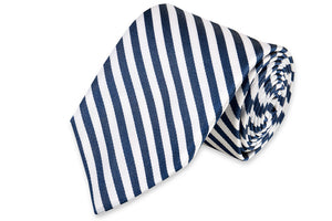 Oyster Roast Stripe Necktie - Midnight