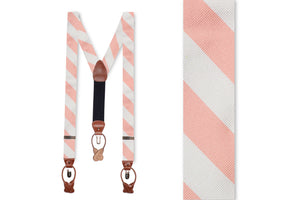Peach and White Stripe Braces