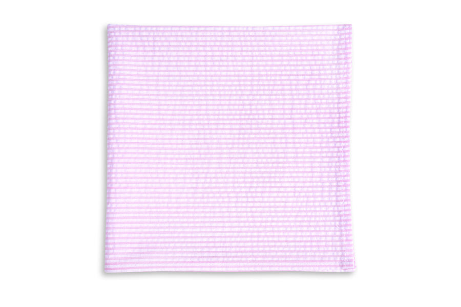 Southern Seersucker Stripe Pocket Square - Pink