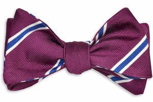 Noble Stripe Bow Tie - Plum
