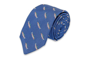 Rainbow Trout Necktie - Royal