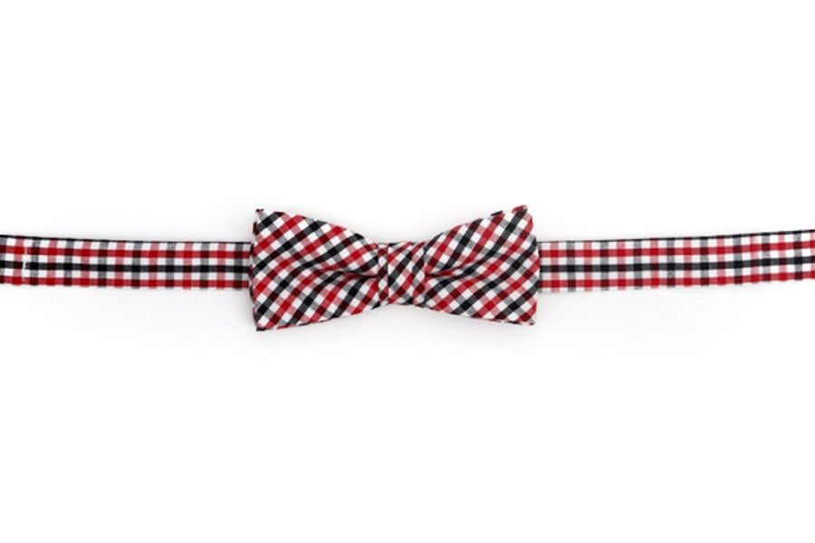 Red and Black Tattersall Boy's Bow