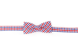 Red and Old Blue Tattersall Boy's Bow
