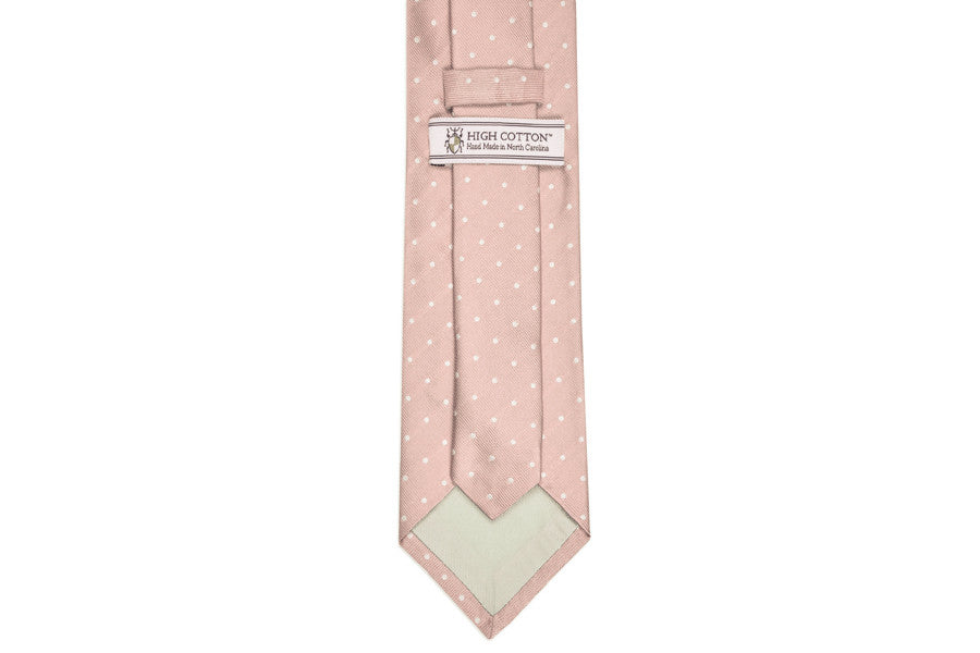 Blush Pink Dot Necktie