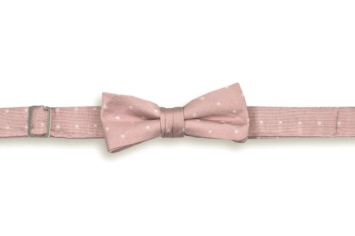 Rose Quartz Dot Boy's Bow Tie