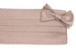 Rose Quartz Dot Cummerbund Set