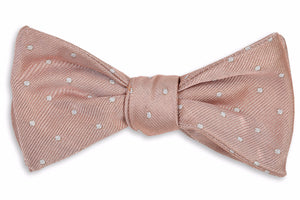 Rose Quartz Dot Bow Tie