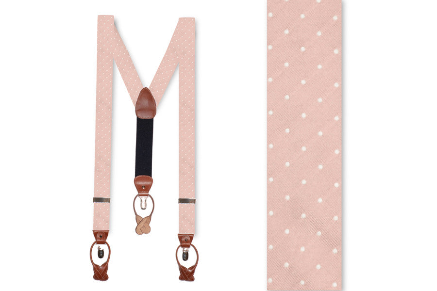 Rose Quartz Dot Braces
