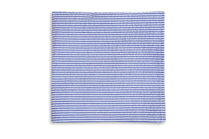 Southern Seersucker Stripe Pocket Square - Royal