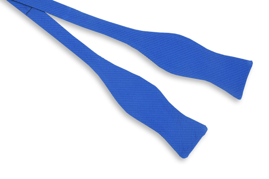 Southern Seersucker Bow Tie - Royal Solid