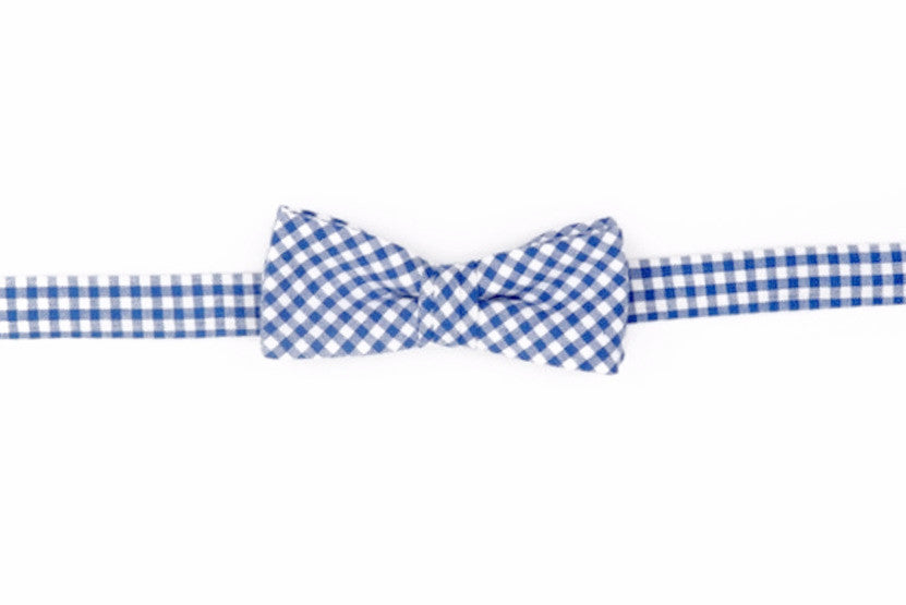 Royal Blue Gingham Boy's Bow