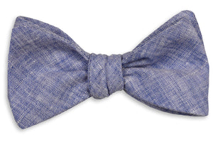 Sea Island Linen Bow Tie - Navy