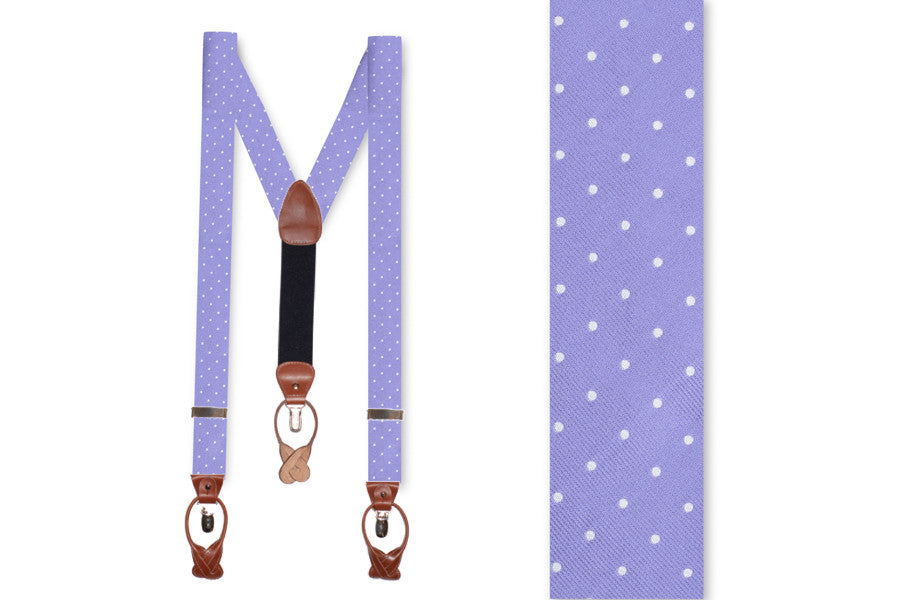 Soft Lavender Dot Braces