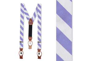 Soft Lavender and White Stripe Braces