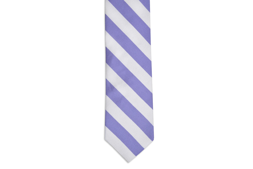 Soft Lavender and White Stripe Necktie