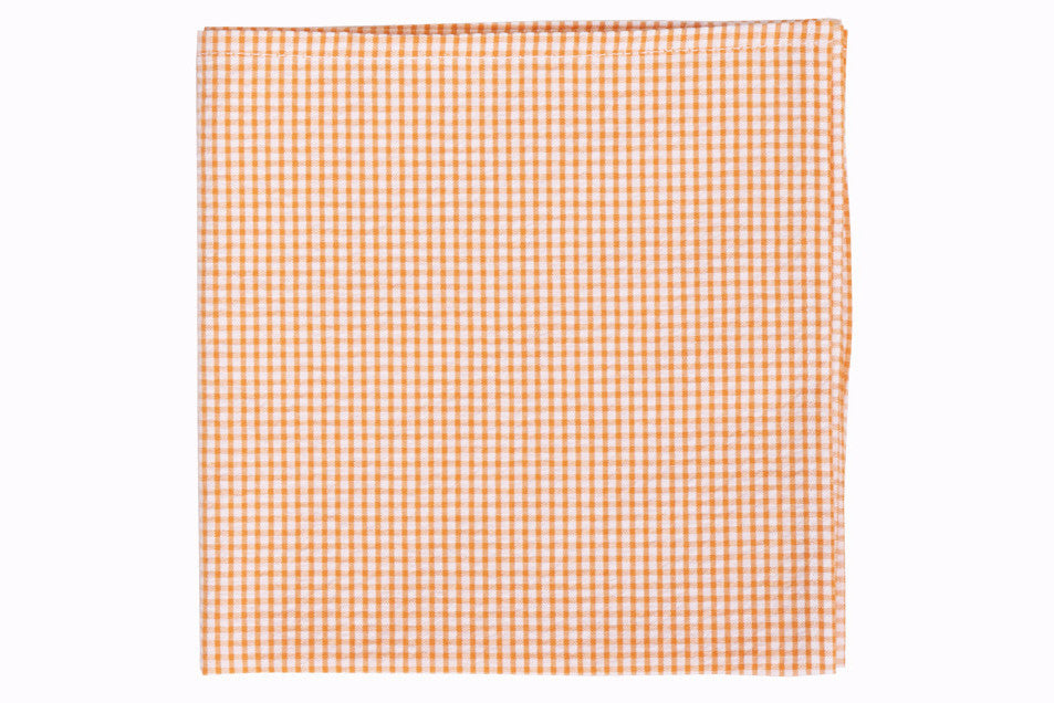 Soft Tangerine Seersucker Pocket Square
