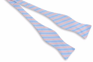 Spinnaker Stripe Bow Tie - Blue