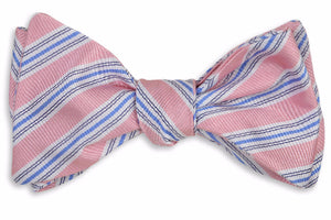 Spinnaker Stripe Bow Tie - Pink