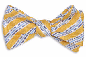 Spinnaker Stripe Bow Tie - Sunshine