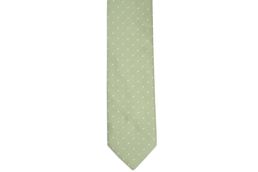Spring Green Dot Necktie