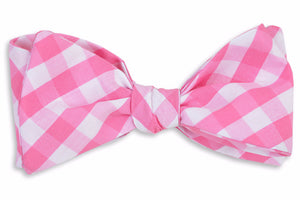 Summer Check Bow Tie - Strawberry