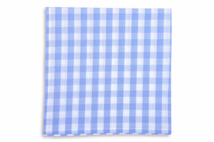 Summer Check Pocket Square - Blueberry