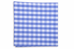 Summer Check Pocket Square - Grape