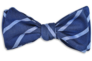 Sunday Brunch Stripe Bow Tie - Light Blue