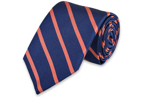 Sunday Brunch Stripe Necktie - Coral