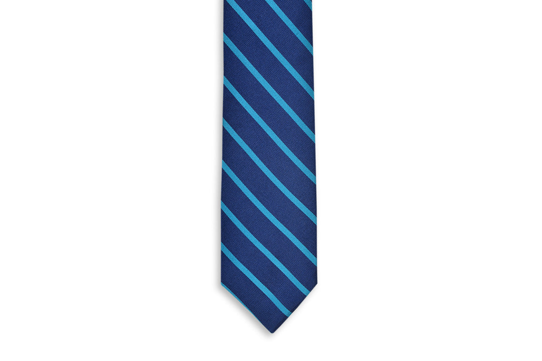 Sunday Brunch Stripe Necktie - Teal