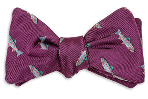 Rainbow Trout Bow Tie - Plum