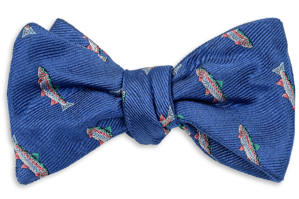 Rainbow Trout Bow Tie - Royal