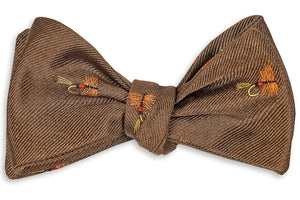 Trout Fly Bow Tie - Riverbank