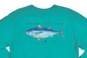 Tuna Long Sleeve Pocket Tee - Offshore Green