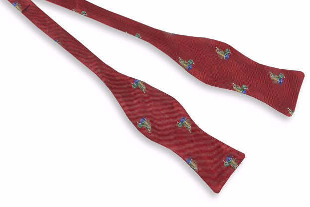 Wood Duck Bow Tie - Red