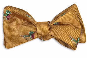 Wood Duck Bow Tie - Gold