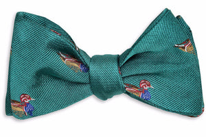 Wood Duck Bow Tie - Teal