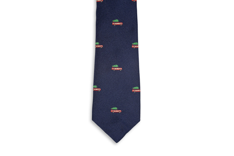 Christmas Woody Necktie - Navy