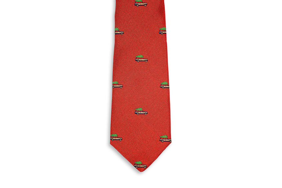 Christmas Woody Necktie - Red