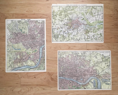 Maps, mapping, historical maps, map of England, map of London, London, UK, map art, print set, set of maps, gallery wall, artwork, design, ideas, decor, olden days, back in the day, city of London,
