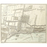 Montreal, City, Map, 1830, River St. Lawrence, St. Lawrence River, Quebec Suburb, St. Lewis Suburb, Recollet Suburb, St. Lawrence Suburb, St. Peter Suburb, General Hospital, Hotel Dieu, Couvent Chapel, Champs de Mars, Bouchette, Jos. Bouchette, Joseph Bouchette, Cattlin, Walker, British Dominions in North America, Antique Maps, Antique Prints, Original, artwork,