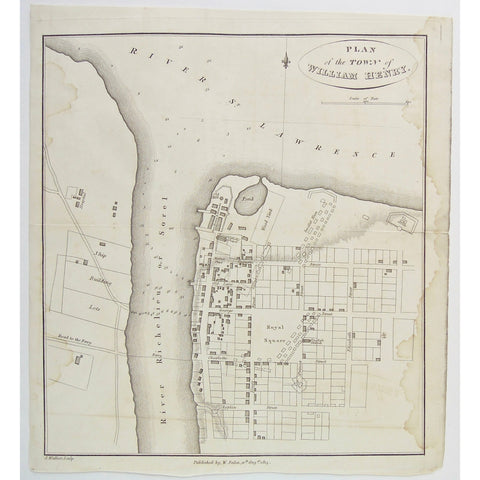 Plan of the Town of William Henry.  (S3-28a)