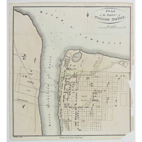 Plan of the Town of William Henry.  (S3-28b)