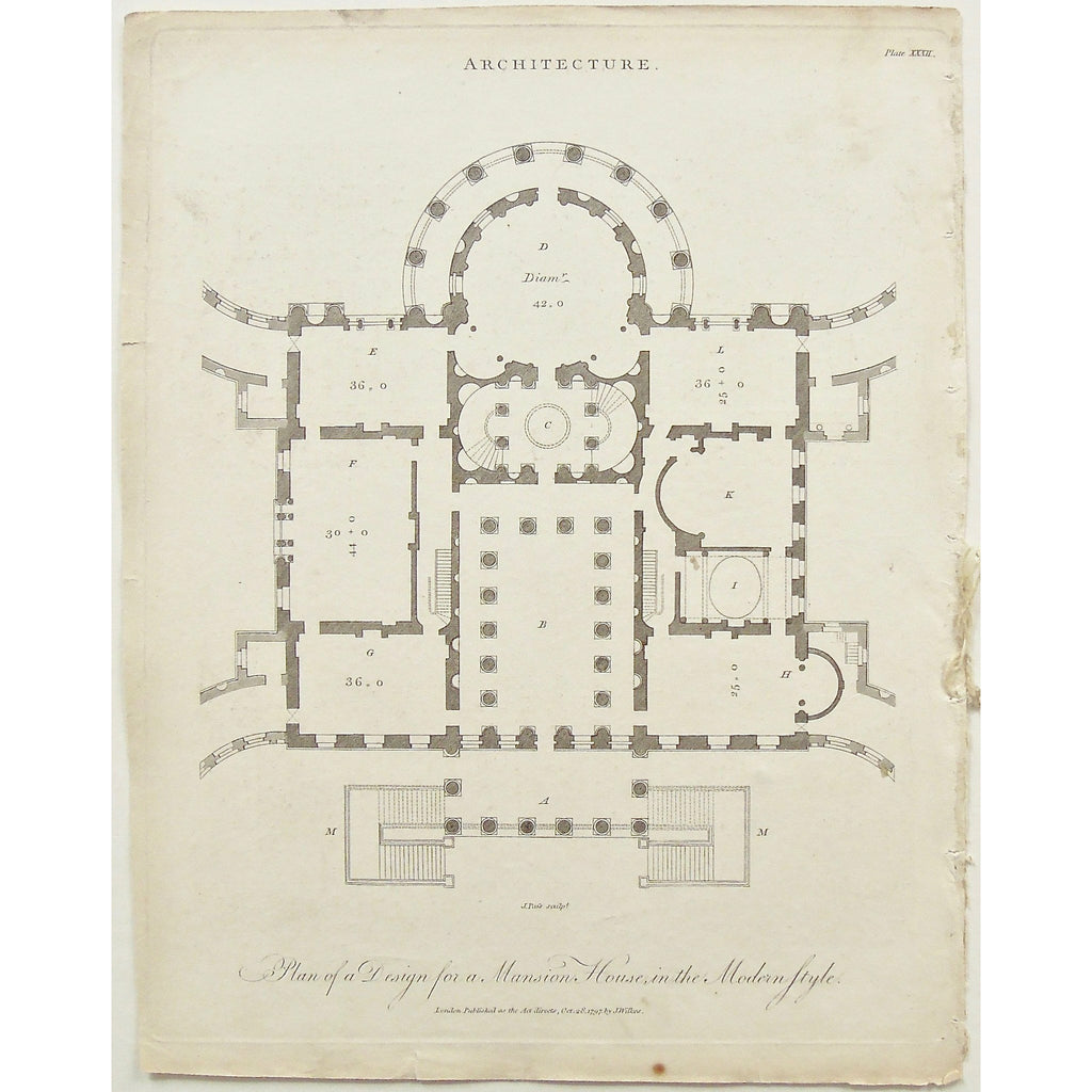 Architecture. Plan of a Design for a Mansion House, in the Modern Style. on london court floor plans, london office floor plans, london flat floor plans, london mews floor plans, london terrace floor plans,