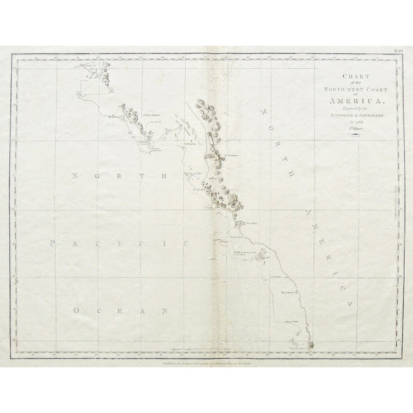 Chart, Charts, Charting, Map, Maps, Mapping, Mapmaking, North West Coast, North West Coast of North America, North America, NorthWest, Coast, Coastline, North Pacific Ocean, Pacific Ocean, Baie de Clonard, Baie de la Touche, Cape Buache, 13 August 1786, 1786, Cape Hector, Isle Kerouard, Fathoms, Rocky Bottom, Iles de Fleurieu, Cape Fleurieu, Mont Fleurieu, Iles de Sartine, Baie St. Louis, Woody, Nootka, British Colombia, Vancouver, Breaker's Point, Bank, Isle des Dolores, Bay of Martyrs, Cape Redondo, Merid