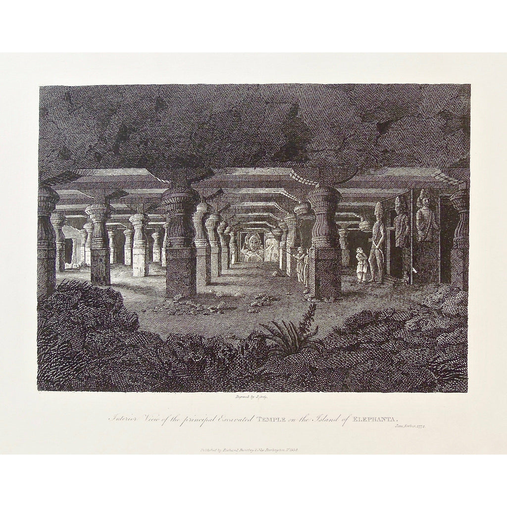 Interior View of the principal Excavated Temple on the Island of Elephanta   (B5-458)
